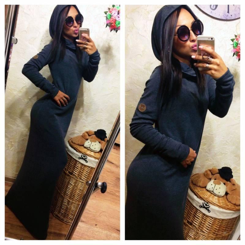 Платья трикотажные с капюшоном 3
