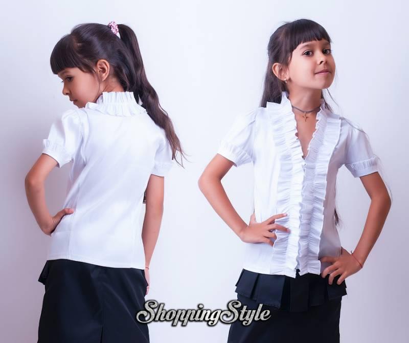 Купить Школьные Блузки Для Девочек Недорого