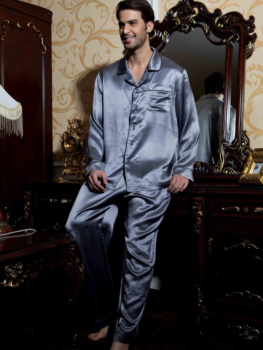946a2e5f8c27fde Шелковая мужская пижама Grafiti купить ...